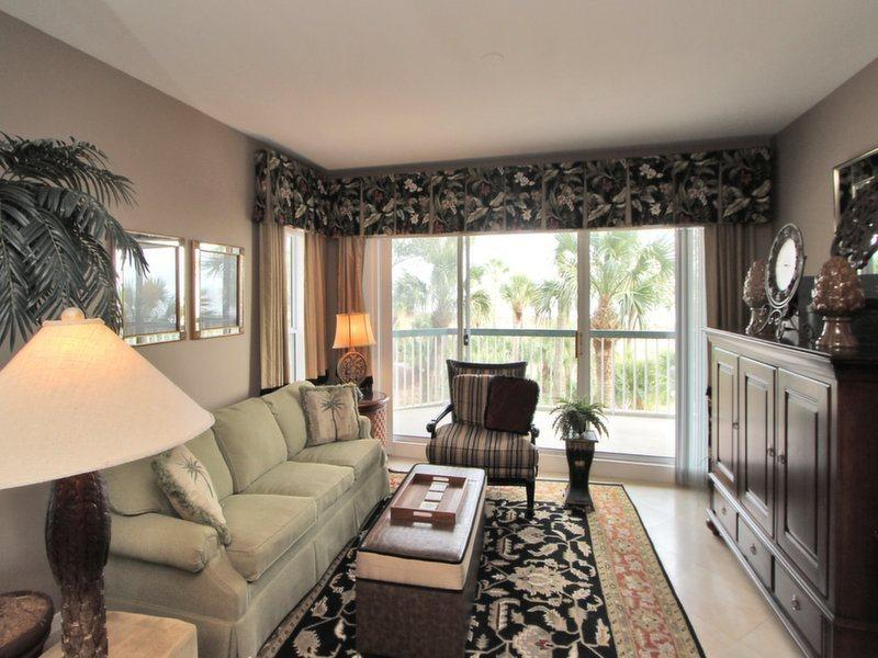Living Room with Ocean Views at 212 Barrington Court - 212 Barrington Court - Palmetto Dunes - rentals