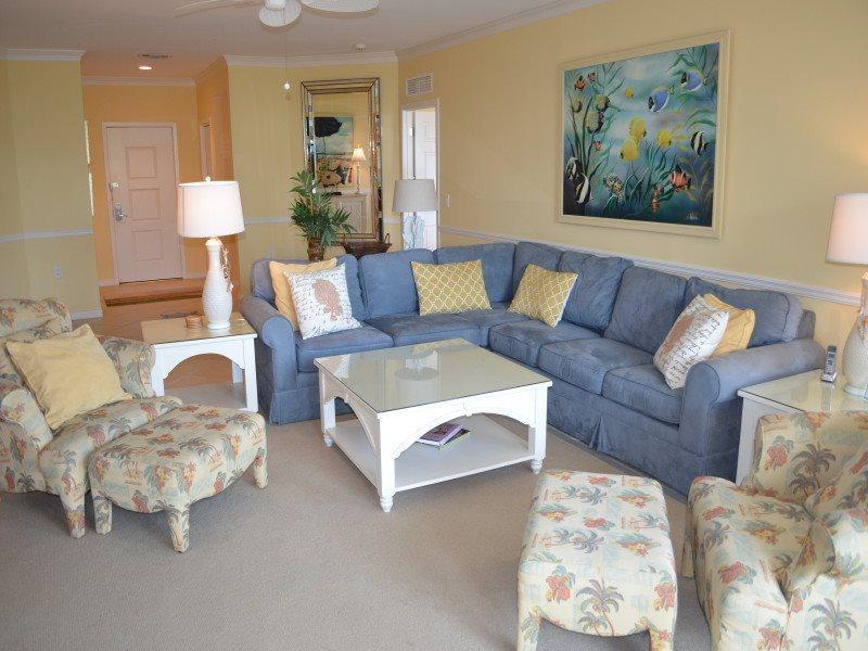 Living Room with Ocean Front Views at 2003 Turtle Lane Club - 2003 Turtle Lane Club - Sea Pines - rentals