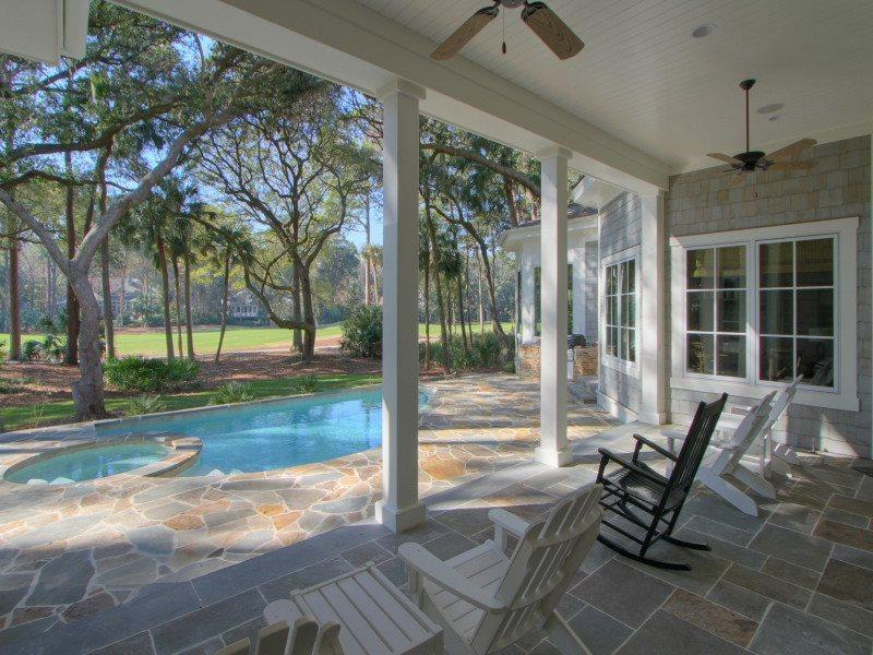 Covered Patio at 7 Sea Lane - 7 Sea Lane - Palmetto Dunes - rentals
