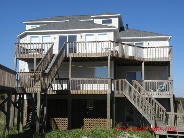 A Peach @ The Beach Oceanside Exterior - A Peach @ the Beach - North Topsail Beach - rentals
