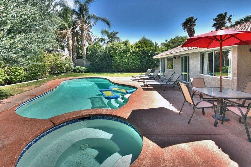 Backyard Pool and Spa - Affordable Comfort - Thousand Palms - rentals