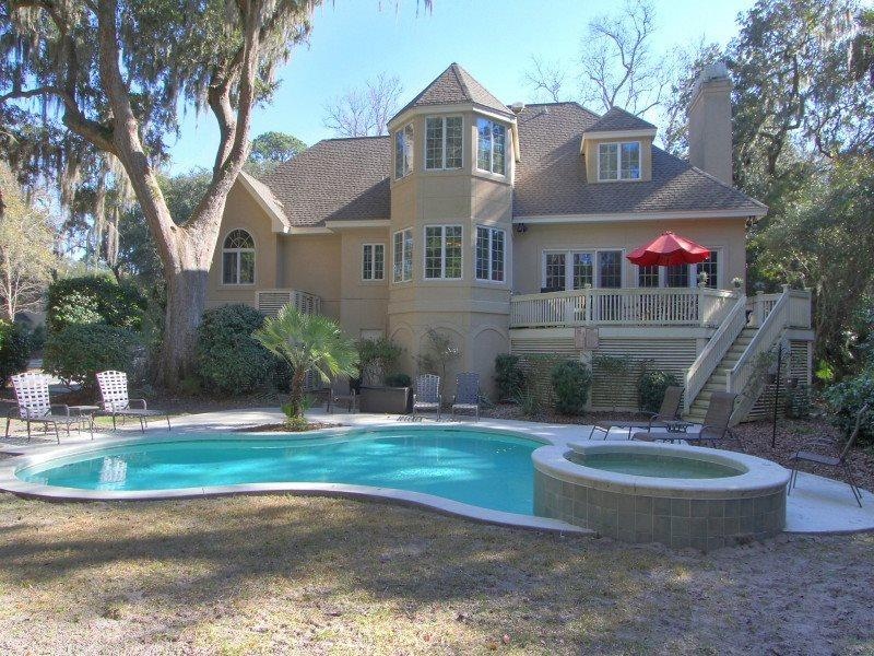 Backyard and Pool at 9 Hunt Club - 9 Hunt Club - Hilton Head - rentals