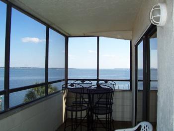 Porch with view - Bay View Condo - Bradenton Beach - rentals