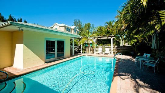 Pool area - Beachy Keen 408 - Anna Maria - rentals