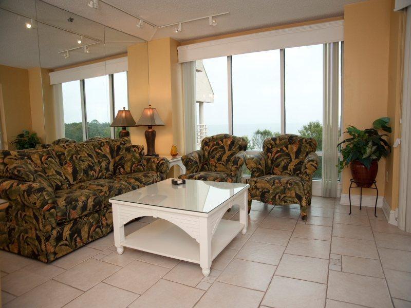 Living Room with Ocean Views at 3530 Villamare - 3530 Villamare - Palmetto Dunes - rentals