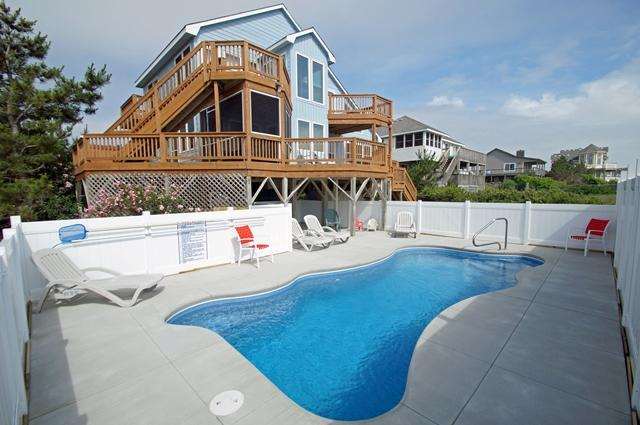 WH973- Mother Earth Father Sky; OCEANFRONT W/ POOL - Image 1 - Corolla - rentals