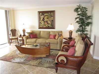 Living Room - SST4-1008 - South Seas Tower - Marco Island - rentals