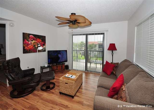Our beach chic living room is a delight! - Ocean Village A36, Top Floor, St Augustine Beach, HDTV, Wifi - Saint Augustine - rentals