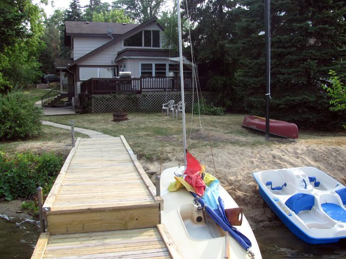 House Exterior; Back Enterance and Dock view - Old Chicago Inn's 3 BR Lake County Cottage - Grayslake - rentals