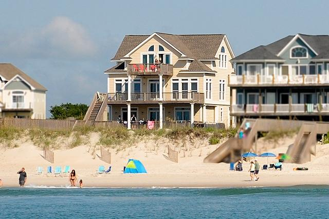 I'm on a boat! - Porpoise Place 31 Oceanfront! | Private Pool, Hot Tub, Elevator, Jacuzzi, Fireplace, Internet Discounts Available- See Description!! - North Topsail Beach - rentals