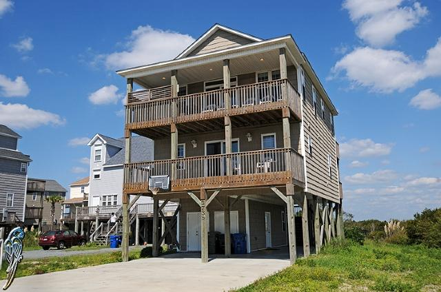 Main View - Island Drive 3739 Oceanview! | Private Pool, Hot Tub, Internet, Game Equipment - North Topsail Beach - rentals