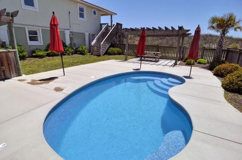 Pool and Home - Island Drive 3658 Oceanfront! | Private Pool, Hot Tub, Game Equipment - North Topsail Beach - rentals