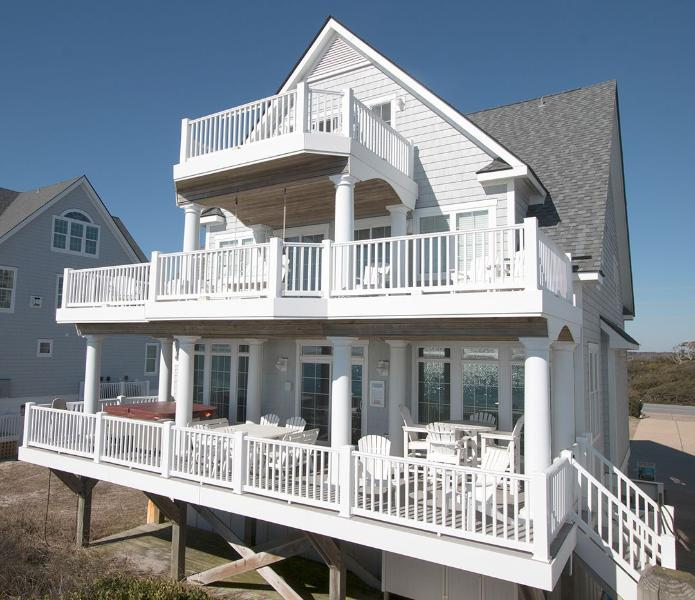 4266 from the beach - Island Drive 4266 Oceanfront! |  Internet, Community Pool, Hot Tub, Elevator, Game Equipment Discounts Available- See Description!! - North Topsail Beach - rentals