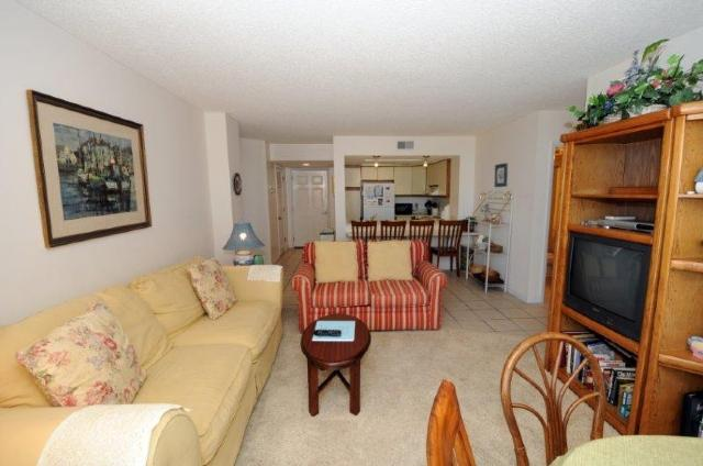 Living Room - St. Regis 3112 Oceanfront!   Indoor Pool, Outdoor Pool, Hot Tub, Tennis Courts, Playground - North Topsail Beach - rentals