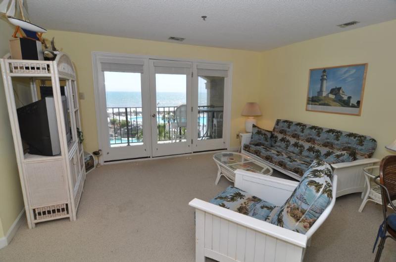 Living Room - Villa Capriani 304-B Oceanfront | 3 Pools, Largest Pool on NC Coast, 2 Hot - North Topsail Beach - rentals