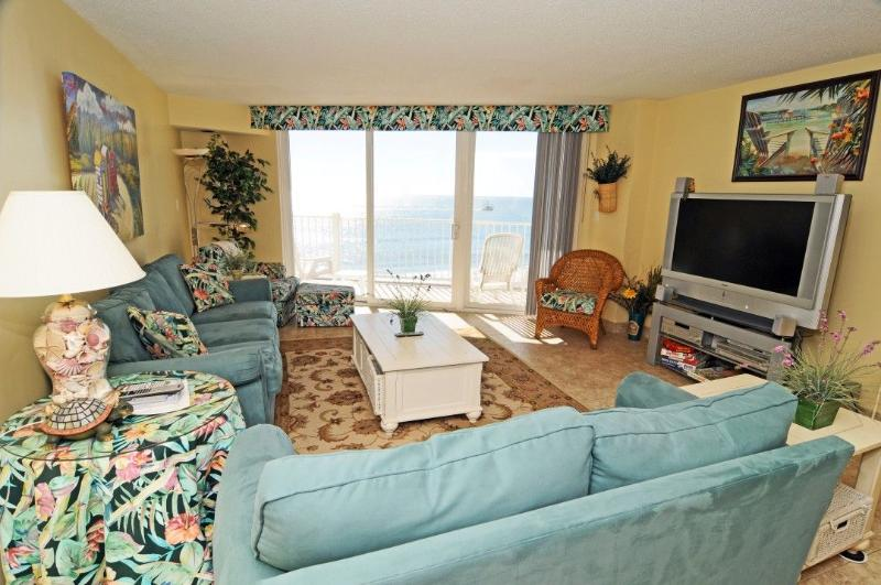 Living Room - St. Regis 2507 Oceanfront! | Indoor Pool, Outdoor Pool, Hot Tub, Tennis Courts, Playground  Discounts Available- See Description!! - North Topsail Beach - rentals
