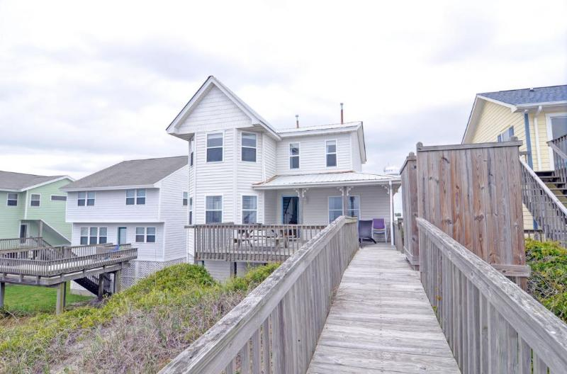From ocean - S. Shore Drive 204 Oceanfront! | Hot Tub, Internet - Surf City - rentals