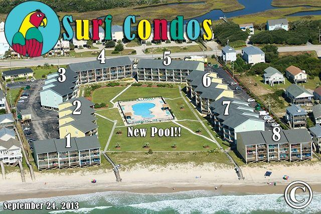Surf Condo Sep 2013...new pool :) - Surf Condo 436 Oceanview!   Community Pool, Internet - Surf City - rentals