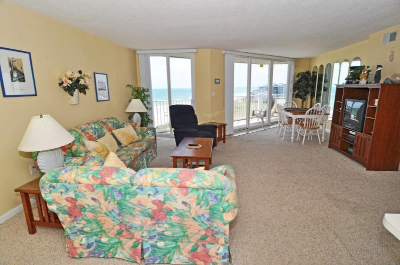 Living Area - St. Regis 1406 Oceanfront! |  Indoor Pool, Outdoor Pool, Hot Tub, Tennis Courts, Playground Discounts Available- See Description!! - North Topsail Beach - rentals