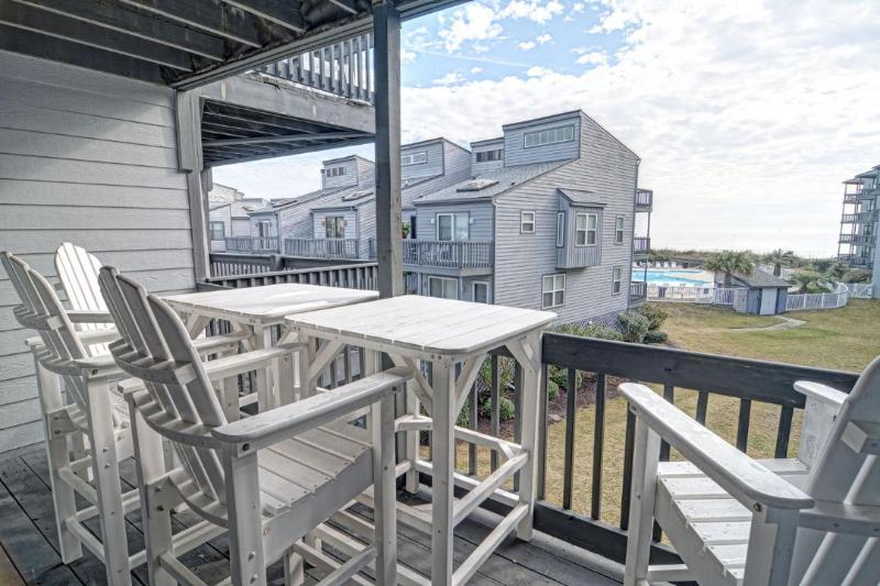 View From Your Deck - Shipwatch II 203 Oceanview! | Community Pool, Internet - North Topsail Beach - rentals