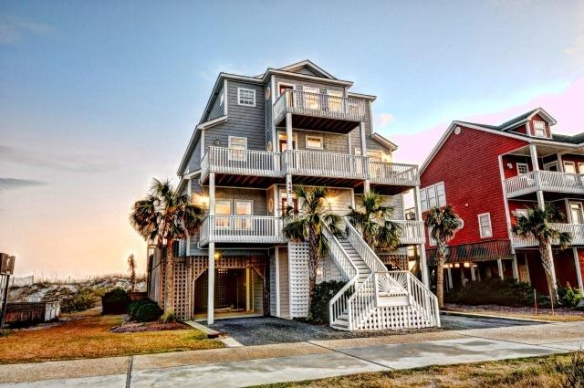 Twilight Shot - New River Inlet Rd 448 |(Special Rates...See Description!) | Oceanfront - North Topsail Beach - rentals
