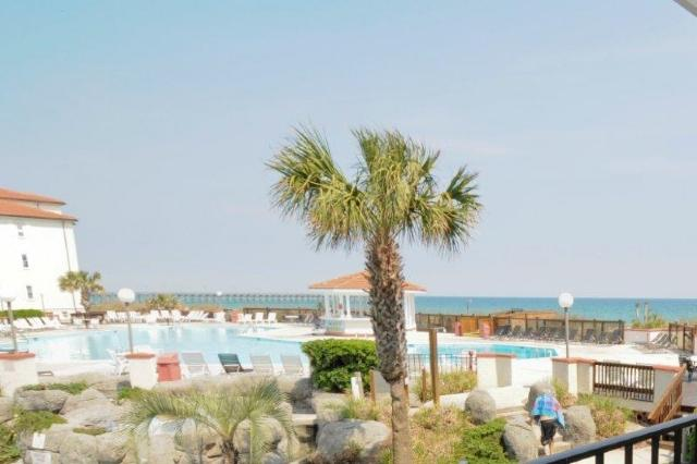 View From Your Balcony - Villa Capriani 110-A Oceanfront! | 3 Pools, Largest Pool on NC Coast, 2 Hot Tubs, Grill Area, Tennis Courts, Restaurant, and Internet - North Topsail Beach - rentals