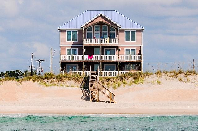 I'm on a boat! - Island Drive 100 Oceanfront! | Private Heated Pool, Hot Tub, Elevator, Game Equipment, Fireplace - North Topsail Beach - rentals