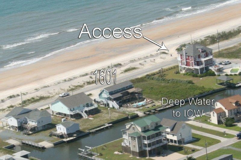 Aerial View - New River Inlet Rd 1601 Oceanview! | Private Pool, Hot Tub, Pet Friendly - North Topsail Beach - rentals