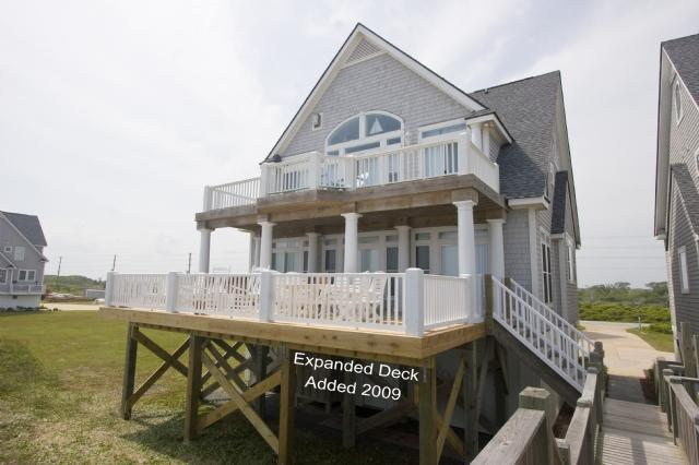 Ocean Side of Home - Island Drive 4296 Oceanfront! | Internet, Community Pool, Hot Tub, Elevator, Jacuzzi, Fireplace Discounts Available- See Description!! - North Topsail Beach - rentals