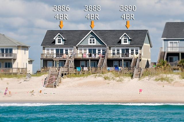 I'm on a boat! - Island Drive 3886 Oceanfront! | Shared Pool, Internet - North Topsail Beach - rentals