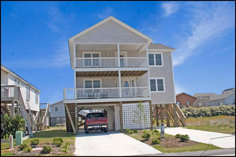 Front of Home - N. New River Drive 1312 Oceanview! | Jacuzzi - Surf City - rentals