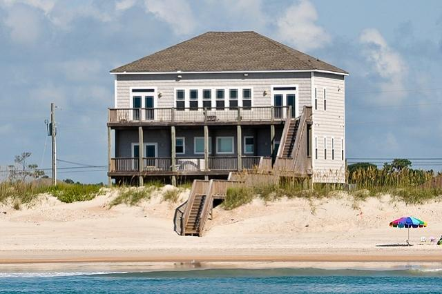 I'm on a boat! - New River Inlet Rd 1330 Oceanfront! | Hot Tub, Theater, Jacuzzi, Elevator - North Topsail Beach - rentals