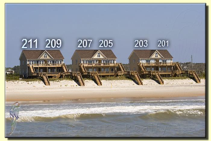 View From The Beach - Goldsboro Lane 211 Oceanfront! | Internet, Jacuzzi! New 46 inch TV!! Discounts Available- See Description!! - North Topsail Beach - rentals