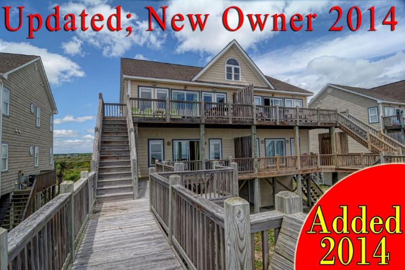 Added for 2014! New owners. - Goldsboro Lane 207 Oceanfront! | Internet, Jacuzzi - North Topsail Beach - rentals