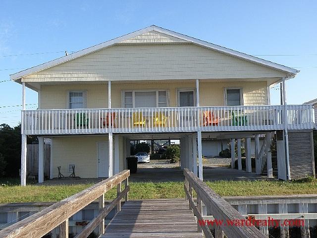 Soundfront Exterior - WV Wisdom - Topsail Beach - rentals