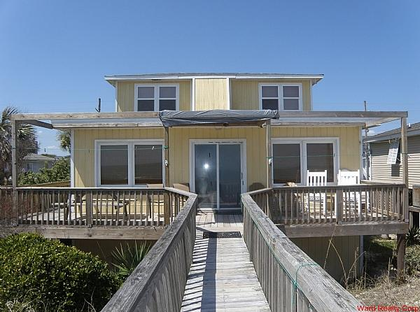 Oceanfront Exterior - no covered porch - Casablanca - Surf City - rentals