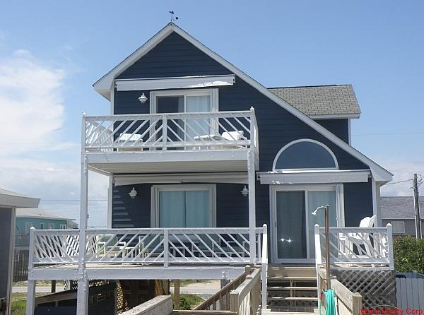 Irish Blues Oceanfront Exterior - Irish Blues - Topsail Beach - rentals