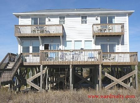 Oceanfront Exterior - Hold'em Heaven - Surf City - rentals