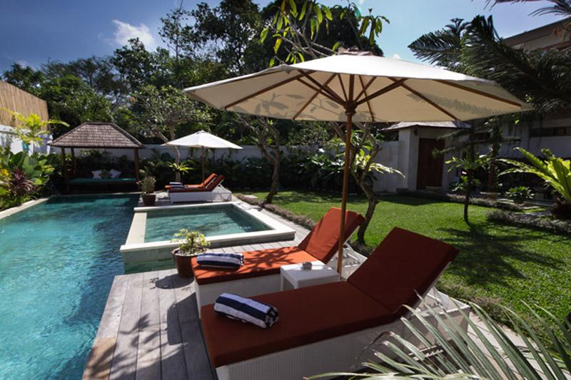 Pool Deck and Garden - Modern Spacious Romantic 4 Bed BALI Style Villa - Seminyak - rentals