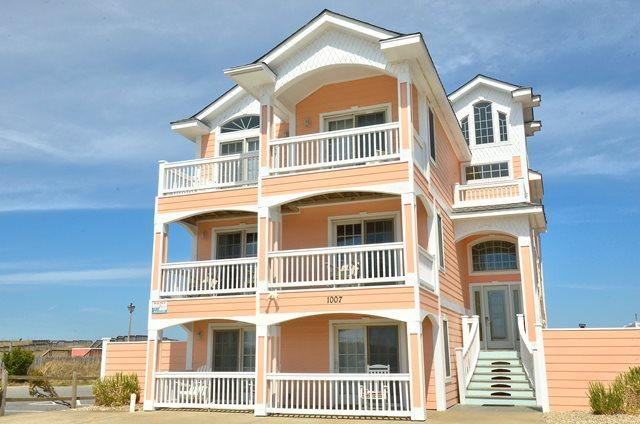 KD1007- JUST PEACHY; MAJESTIC 10BDRM OCEANFRONT! - Image 1 - Kill Devil Hills - rentals