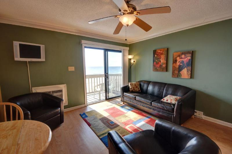 Living Room - Topsail Reef 308 -1BR_6 - North Topsail Beach - rentals