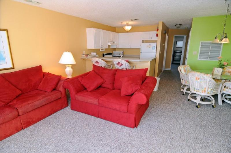 Living Room - Villa Capriani 404-B -2BR_6 - North Topsail Beach - rentals