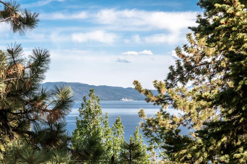 View from deck - Tahoe City Lakeview Home-Pet Friendly& hot tub 643 - Tahoe City - rentals