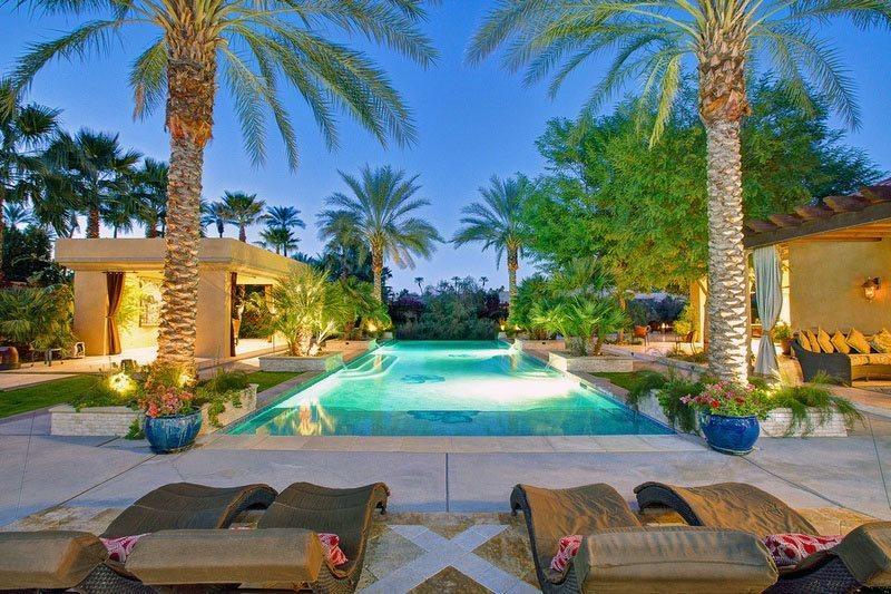 Infinity Pool  Venue Area in the Distance - Clancy Lane Estate - Rancho Mirage - rentals