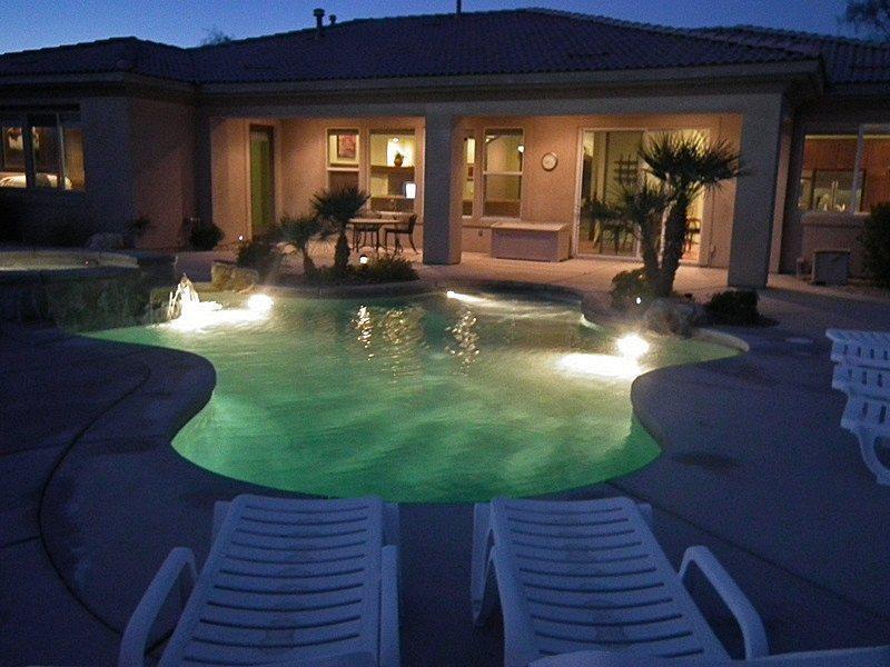Pool  Spa at Night - Desert Nights - Bermuda Dunes - rentals
