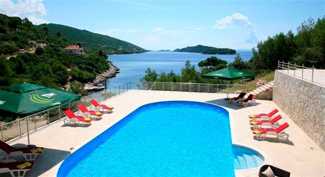 Exquisite beach front villa for rent, Vela Luka, Korcula - EXQUISITE BEACH FRONT HOLIDAY VILLA WITH POOL - Blato - rentals