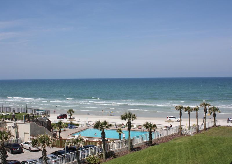 Balcony View - Ocean Front Condo at the Luxurious Ocean Vistas. - Daytona Beach - rentals