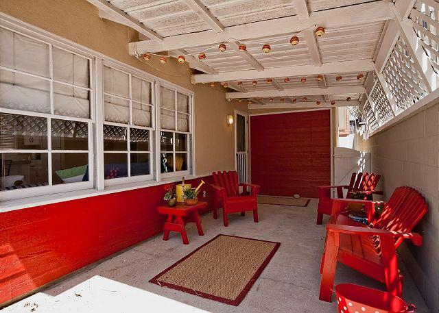 Outside patio area - Silverstrand House Walking Distance to Beach!!! - Oxnard - rentals