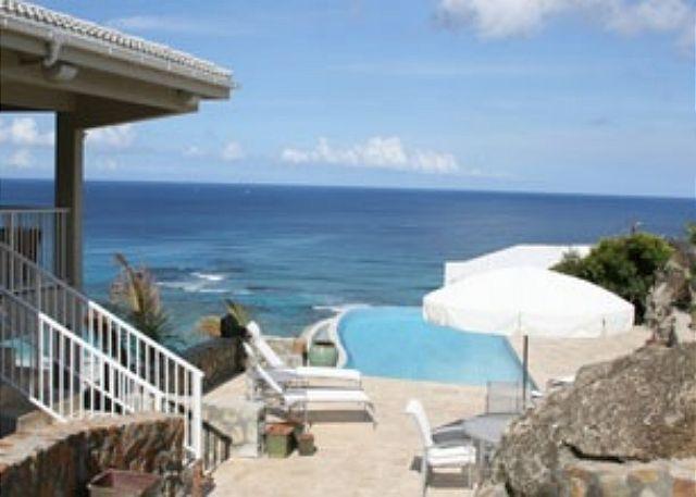 Bougainvillea, views overlooking Dawn Beach & St. Barths | Island Properties - Image 1 - Saint Martin-Sint Maarten - rentals