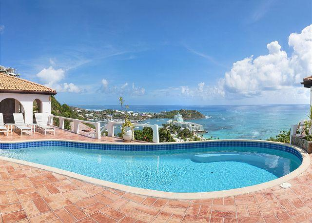 Oyster Pond hillside villa Arches with fantastic views | Island Properties - Image 1 - Saint Martin-Sint Maarten - rentals
